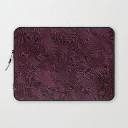 Royal Maroon Silk Moire Pattern Laptop Sleeve