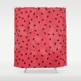 Watermelon Seeds Shower Curtain