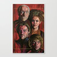lannister Canvas Prints featuring House Lannister by Danika