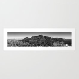 Table Mountain Panorama (Cape Town, South Africa) Art Print