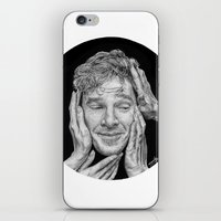 cumberbatch iPhone & iPod Skins featuring Benedict Cumberbatch  by Cécile Pellerin