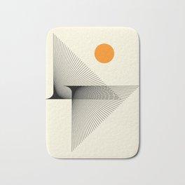 Abstraction_NEW_BIRD_FLY_LINE_POP_ART_033A Bath Mat