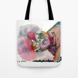 I'd rather be a rhino Tote Bag