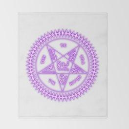 Sebastian Michaelis Sigil Light (white bg) Throw Blanket
