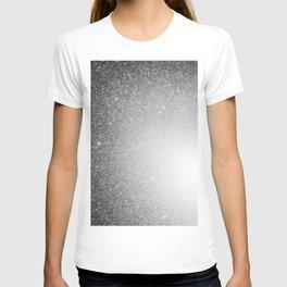 Galaxy Stars Ombre : Black Slate Gray T-shirt