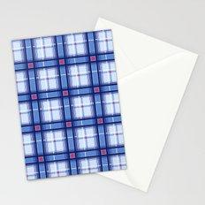 Blue Plaid Stationery Cards