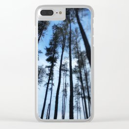 Northern Pines Clear iPhone Case