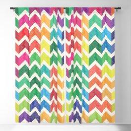 Watercolor Chevron Pattern IV Blackout Curtain