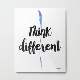 Think Different Metal Print