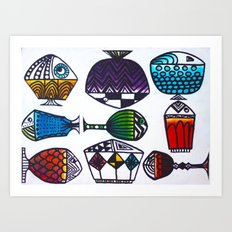 Colour Fish Art Print