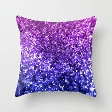 Midnight Glitter Throw Pillow