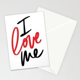 I LOVE ME  Stationery Cards