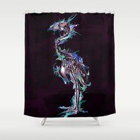 archan nair Shower Curtains featuring Fade Fader Fadest by Archan Nair