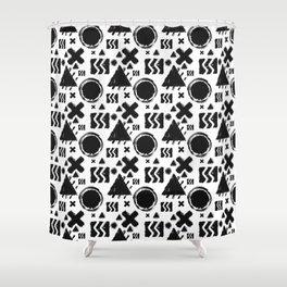 Rugged Geometrix Shower Curtain