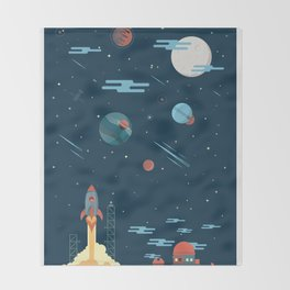 SPACE poster Throw Blanket