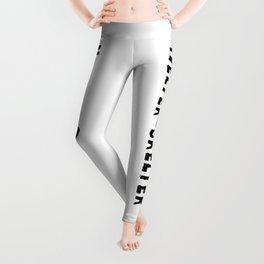 Helter Skelter (black on White) Leggings