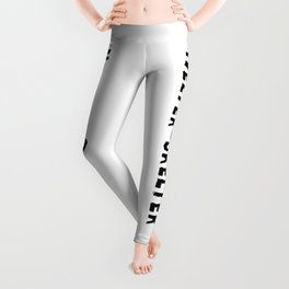 Helter Skelter (black on White) Leggings