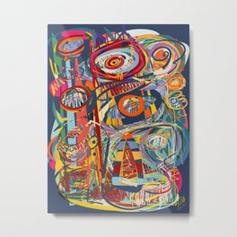 Abstract Neo Expressionism Art Mystic Energy Metal Print