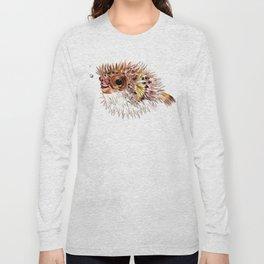 Little cute Fish, Puffer fish, cut fish art, coral aquarium fish Long Sleeve T-shirt