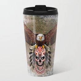 indian native Flaying Eagle sugar Skull iPhone 4 4s 5 5c 6, ipod, ipad, pillow case Travel Mug