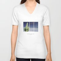 parks V-neck T-shirts featuring National Parks: Saguaro by Roadtrippers