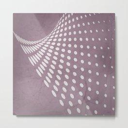 Halftone Flowing Swerve in Musk Mauve Metal Print