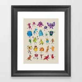 Fruity Monsters Set 2 Framed Art Print