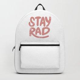 Stay Rad Vintage Pink Backpack