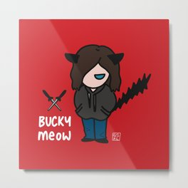 Bucky Meow 2 Metal Print