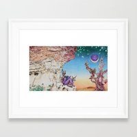 nausicaa Framed Art Prints featuring Nausicaa Before the Portal to Erebus  by Derek Sproule