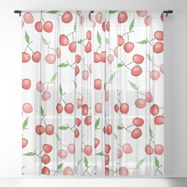The Fruits: Cherry Sheer Curtain