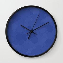 Deep Ultramarine Bubble Dot Color Accent Wall Clock