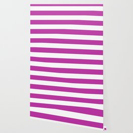 Byzantine -  solid color - white stripes pattern Wallpaper