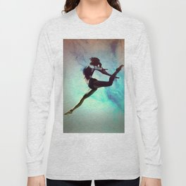 Ballet Dancer Feat Lady Dreams Abstract Art Long Sleeve T-shirt