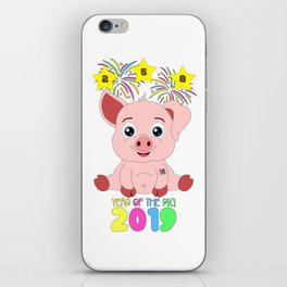 Year Of The Pig 2019 Chinese New Year Astrology Zodiac iPhone Skin