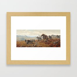 New York Pleistocene Tundra Framed Art Print