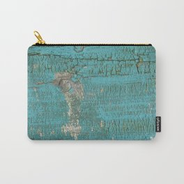 Rustic Wood with Bright Turquoise Paint Weathered Aged to perfection Carry-All Pouch