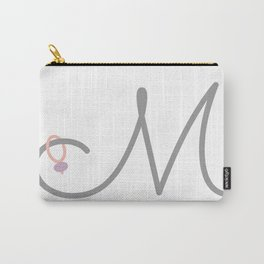 M Initial with Stitch Marker Carry-All Pouch