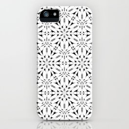 Kat Scratch • Black & White mosaic iPhone Case