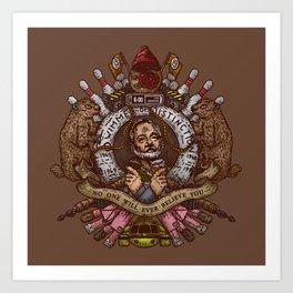 Murray crest Art Print