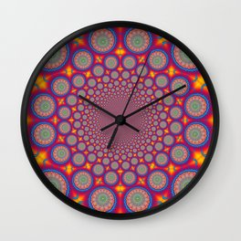 BBQSHOES: Wheels Of Time II Fractal Mandala Wall Clock