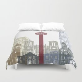 San Antonio skyline poster Duvet Cover