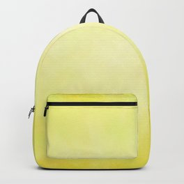 Sunny Yellow Wash of Color Backpack