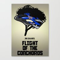 flight of the conchords Canvas Prints featuring Flight of the Conchords - Hair Helmet by maclac