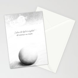 light is brighter Stationery Cards