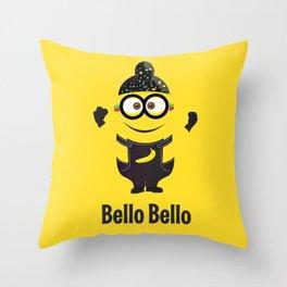 Bello Singh Punjabi (Balle Balle) Minion Inspired Parody Throw Pillow