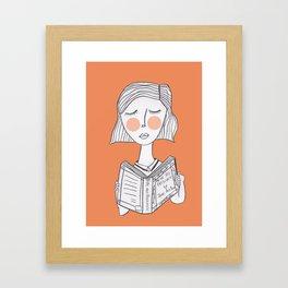 Reading Jane Austen is always a good idea. Framed Art Print