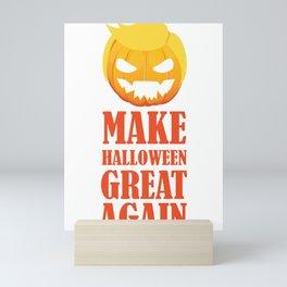 Make Halloween Great Again Trump Pumpkin Mini Art Print