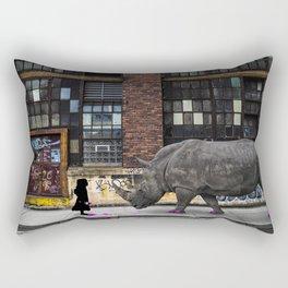 Real Rhinos Wear Pink Rectangular Pillow