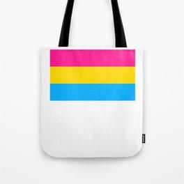Pansexual Flag print LGBTQ Pride Gift Idea Tote Bag